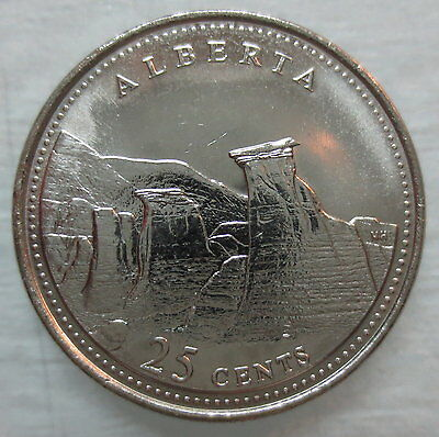 1992 Canada 25¢ Alberta Brilliant Uncirculated Quarter Coin