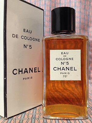 Vintage MID-CENTURY Chanel No 5 LARGE 4 oz 118 ml Eau de Cologne GOLDEN SEAL