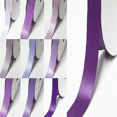 """by 5 MeterS single faced satin ribbon 2"""" /50mm lilac purple s color"""
