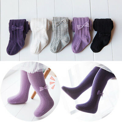 US Toddler Kids Baby Girl Cotton Tights Socks Stocking Thermal Hosiery Pantyhose