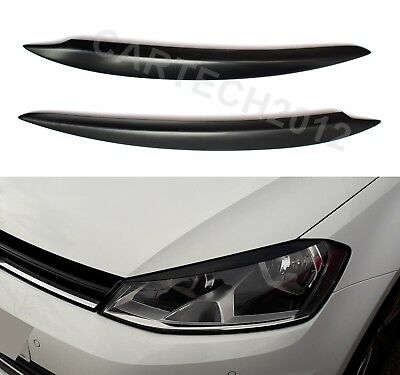 VW Volkswagen Golf MK7 Headlights Eyebrows, ABS PLASTIC, spoiler, tuning