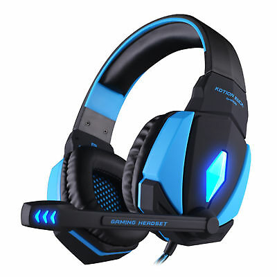 Kotion G4000 Computer Gaming Stereo Headset Earphone Multimedia LED With Mic
