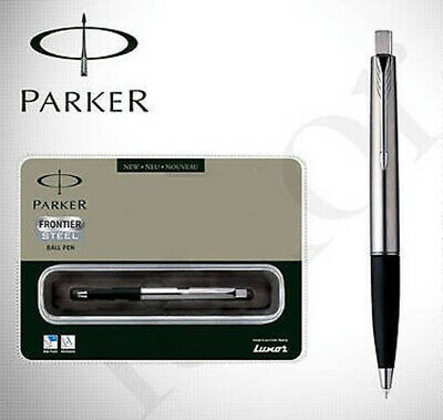 Parker Frontier Stainless Steel CT ( Chrome Trim ) Ball Pen - NEW - Free Shippin