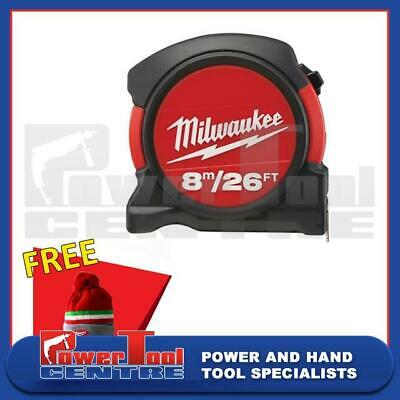 Milwaukee 48225625 Contractor Pocket Measuring Tape Measure 8m / 26ft Width 27mm