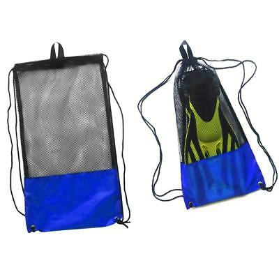 Heavy Duty Mesh Drawstring Gear Bag for Scuba Diving Swim Beach Equipment