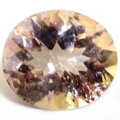 NATURAL SPARKLING PEACHY PINK MORGANITE LOOSE GEMSTONES (9.3 x 7.6 mm) OVAL CUT