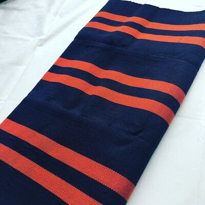 Navy Blue and Orange Aso Oke