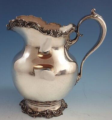 Whiting Sterling Silver Water Pitcher with Rococo Scroll Work #6447 (#1945)