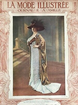 French MODE ILLUSTREE Sewing patterns -tracings- June 12 & 19,1910- Corset