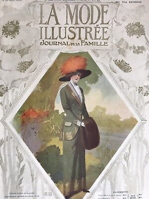 French MODE ILLUSTREE Sewing patterns -tracings- Oct 23 & 30,1910- Doll
