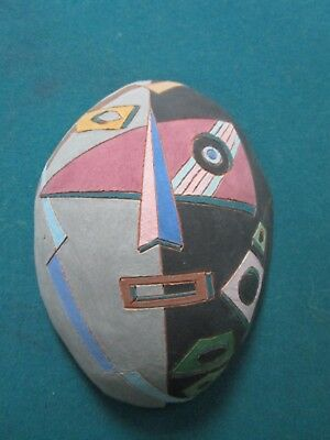 "Louis Mendez Studio Pottery Mask 3 X 10 X 7"" SIGNED  [*MAIN]"