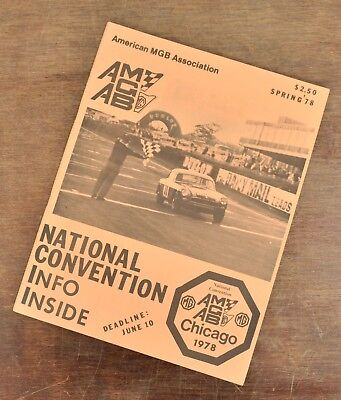 Vintage American MGB Association Spring 1978 National Convention Chicago