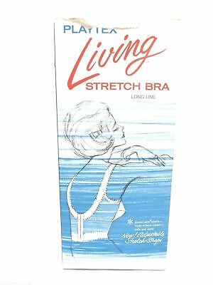 Playtex Living Longline Bra NOS Vintage 1960s  In Box 40 C WHite