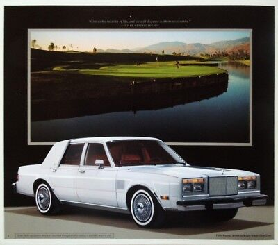1989 Chrysler Fifth Avenue Large Deluxe Sales Brochure