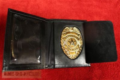 Historisches US Badge Security Officer Ausweis Mappe