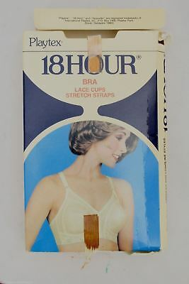 Vtg 60s Playtex 18 Hour BRA Beige Style #27 In Box NOS Size 40D