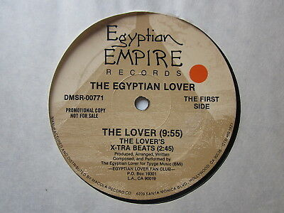 """Electro Old School Hip-Hop 80's 12""""-Egyptian Lover-The Lover-US Egyptian Empire"""
