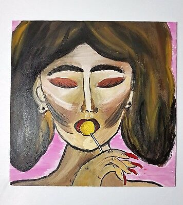 "Handmade acrylic art drawing ""Lollipop"""