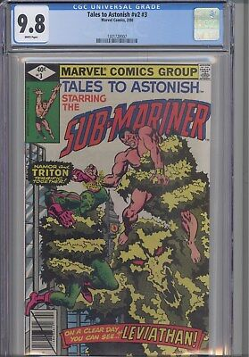 Tales to Astonish V2 #3 CGC 9.8  1980 Sub-Mariner: New Frame