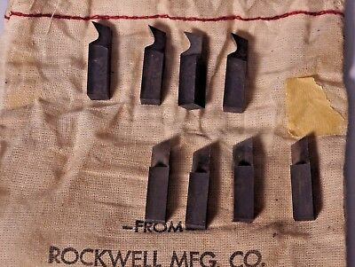 Rockwell Uniplane Cutter Set - NEW Old Stockt - Solid CARBIDE Original Pouch