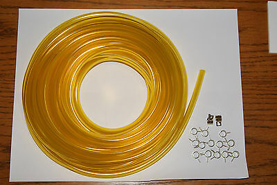 HYOSUNG SCOOTER carburetor 3/16 ID FUEL LINE CLAMPS YELLOW 5 FT AND 15 CLAMPS