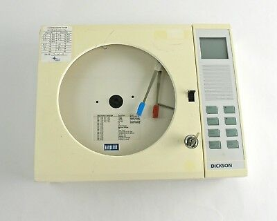 """Dickson THDX C417 Chart Recorder 8"""" -20 to 120F 7-Day Rotation"""