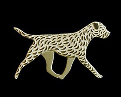 Border Terrier Running dog Brooch Lapel Pin-Fashion Jewellery Gold Plated