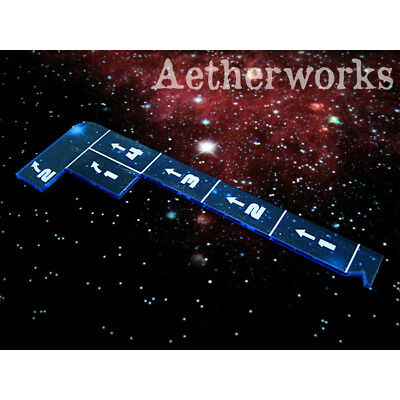 Aetherworks Star Wars X-Wing Capital Movement Template Transparent Blue