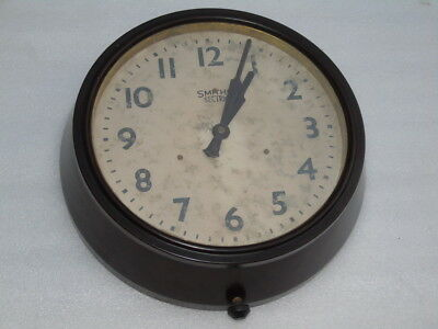 Rare 12 Inches Smiths Sectric England Bakelite Winding Wall Clock