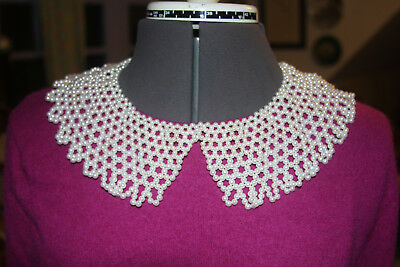 """18"""" Pearl Beaded Collar - ACCESSORY - NECKLACE - BRIDAL (100)"""