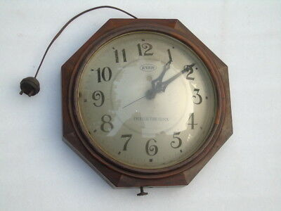 Rare Ever Electric Clock Made In Japan Oval Glass