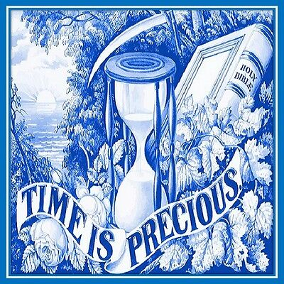 30 Custom Blue Precious Time Art Personalized Address Labels