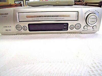 Sharp Video  Player/recorder Vcr 6 Head Vc-A240 With Remote