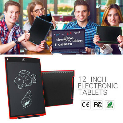 """12""""Creative LCD Writing Pad Notepad Electronic Drawing Tablet Graphics Board MG"""