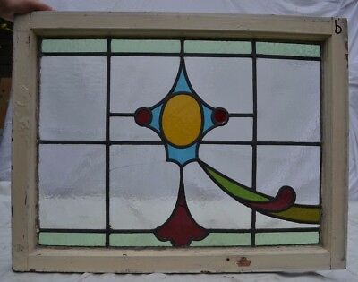Leaded light stained glass window for above door B642b. WORLDWIDE DELIVERY!