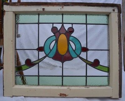 Leaded stained light glass window for above door R649a. WORLDWIDE DELIVERY!!!
