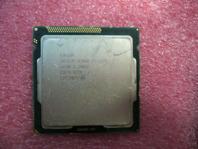 QTY 1x INTEL Xeon E3-1225 Quad Core CPU 3.10GHZ/6MB LGA1155 SR00G