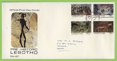 Lesotho 1983 Rock Paintings set First Day Cover