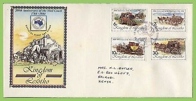 Lesotho 1984 Ausipex Int Stamp Exhibition set First Day Cover