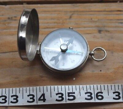 Vintage PIC Compass Made In Germany Metal Case Works Great