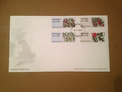 2014 GB Post & Go Winter Greenery UA FDC Hollybush, Ayr non-pictorial FDI SHS