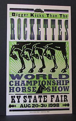 Hatch Show Print 1998 Kentucky State Fair Bigger Kicks than the Rockettes Horses