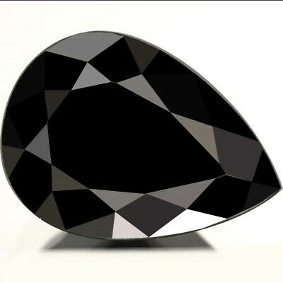 NATURAL UNHEATED BLACK SPINEL  (12cts / 19.8 x 14.8 mm) LARGE PEAR FACETED