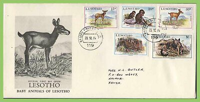 Lesotho 1984 Baby Animals set First Day Cover