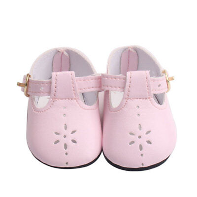 Handmade Cute Lovely Pink PU Shoes  For 43cm Zapf Baby Toy Doll·