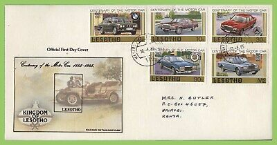 Lesotho 1985 Century of Motoring set First Day Cover
