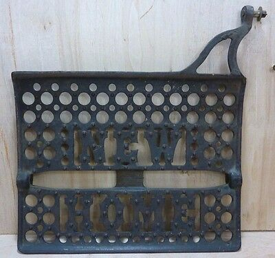 Old Cast Iron NEW HOME Sewing Machine Decorative Wall Art Machine Part 1