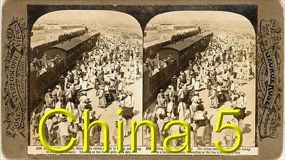 18 new STEREOFOTOS ÜBER CHINA PEKING UM 1900 Serie 5