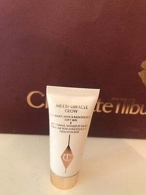 Charlotte Tilbury Multi-Miracle Glow Cleanser Mask & Balm Deluxe Size 15ml New