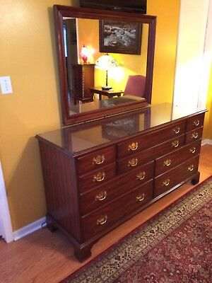 Henkel Harris Triple Dresser Chest Wild Black Cherry - Excellent Condition!